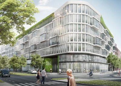 Njemačka, Berlin (Pulse) – Montaža kontinuirane aluminijske fasade te prozorskih elemenata (Schüco sistem).